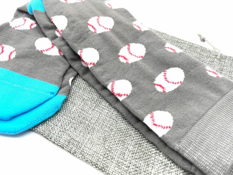 baseball recycled socks made in the usa from repreve fiber at sleet and sole factory