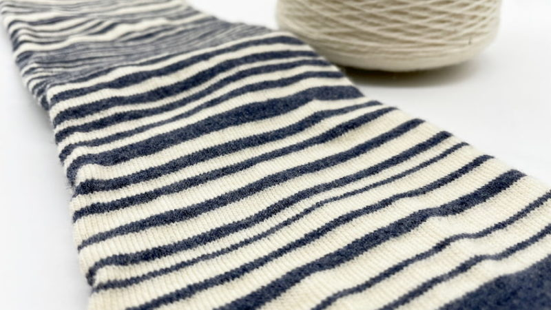 stripes merino and recycled wool socks women and men in a recycled bag zoom at sleet and sole