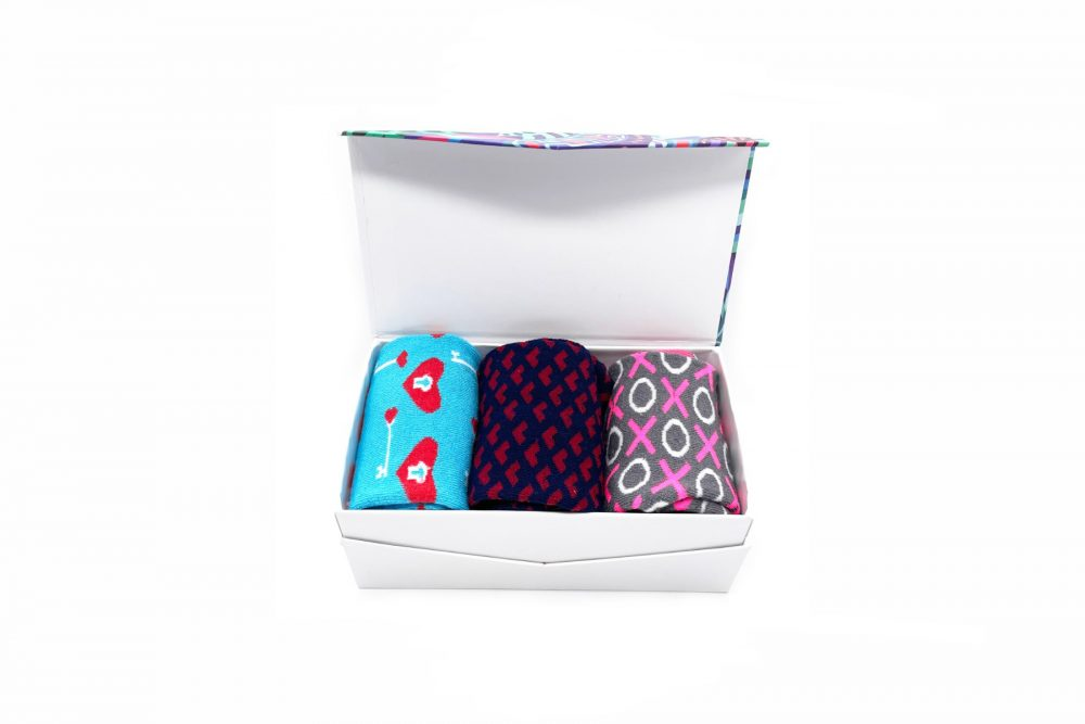 valentines gift box socks made in the usa at sleet and sole