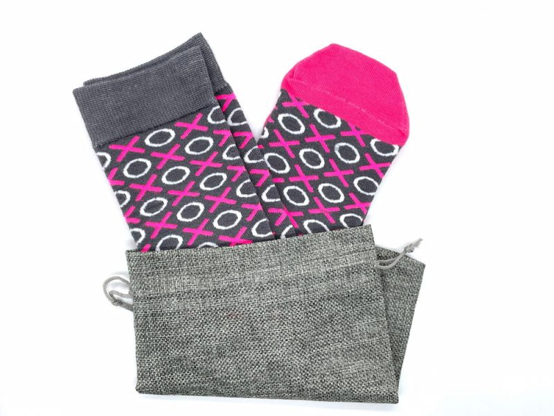 xoxo recycled socks made in the usa from repreve fiber at sleet and sole factory