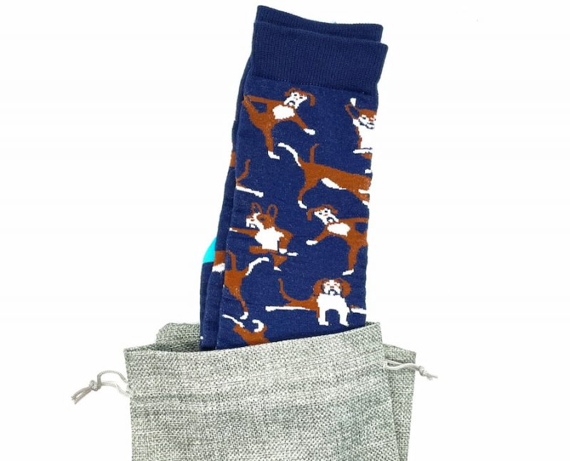 namaste dog recycled socks made in the usa at sleet and sole