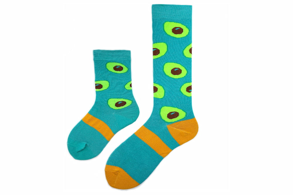 Mommy & Me Avocado Matching Sock Set made in the usa at sleet and sole
