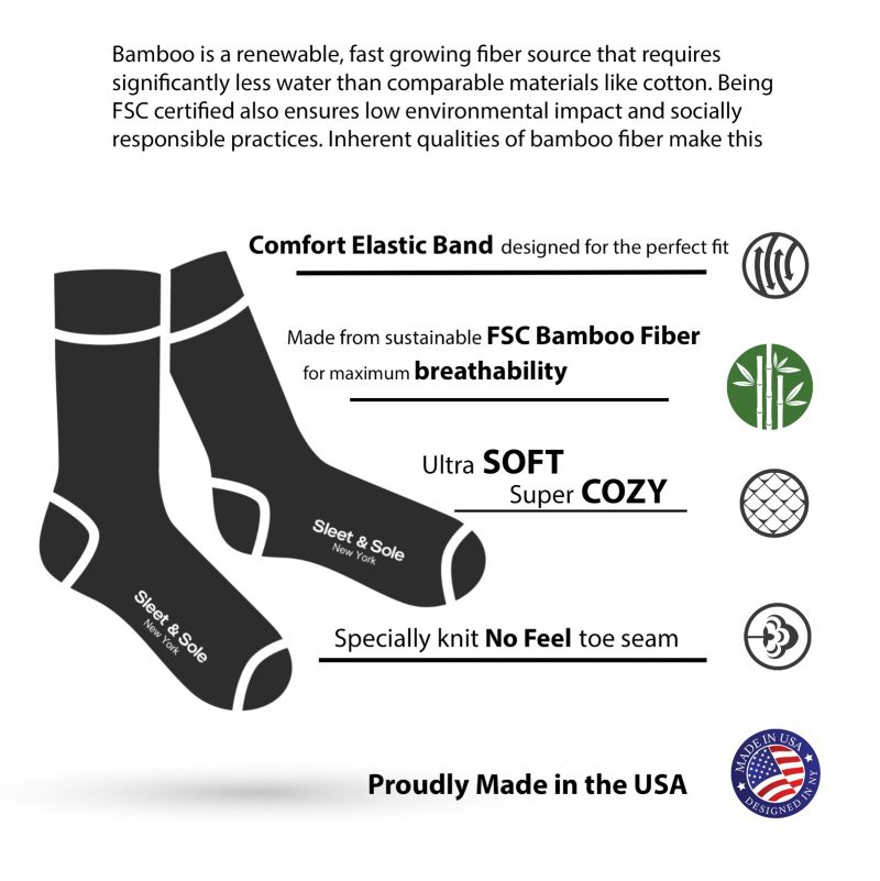 bamboo socks features
