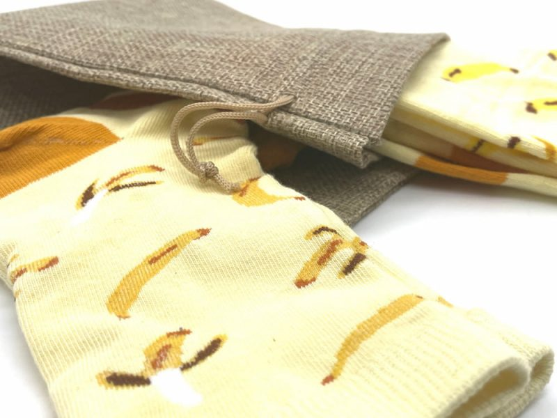 banana matching recycled socks made in the usa at sleet and sole