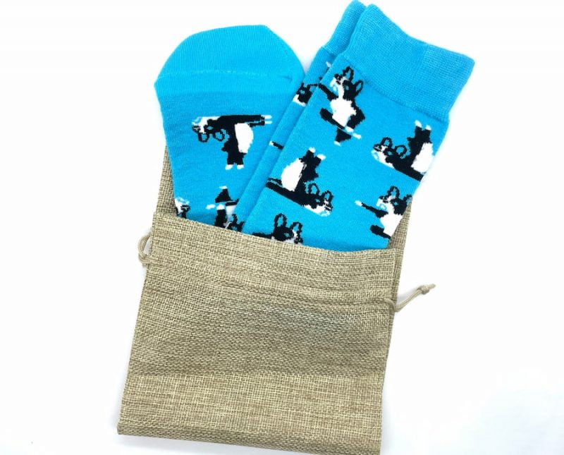 boston terrier bamboo socks made in the usa at sleet and sole