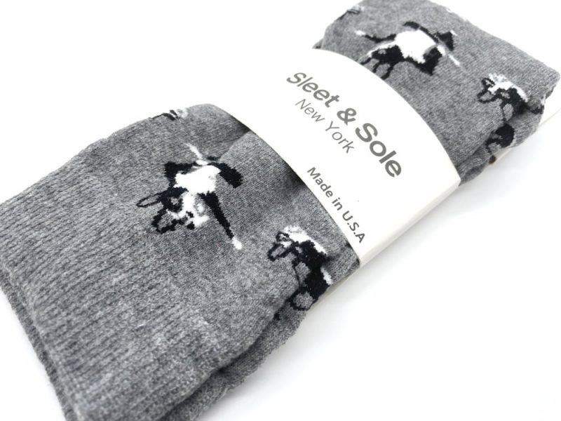 boston terrier recycled wool socks made in the usa at sleet and sole