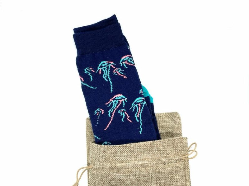 jellyfish repreve recycled socks made in the usa at sleet and sole