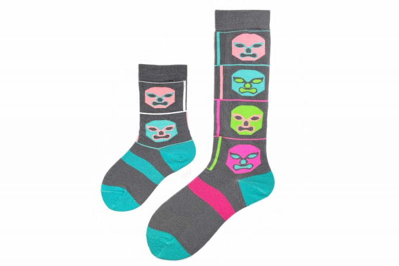 Daddy & Me Luchador Matching Sock Set made in the usa at sleet and sole