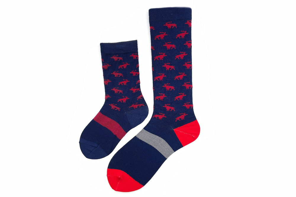 Daddy & Me Moose Matching Sock Set made in the usa at sleet and sole