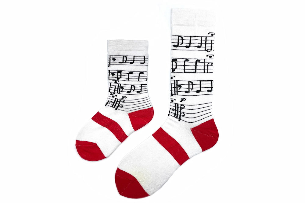 Mommy & Me Piano Matching Sock Set made in the usa at sleet and sole
