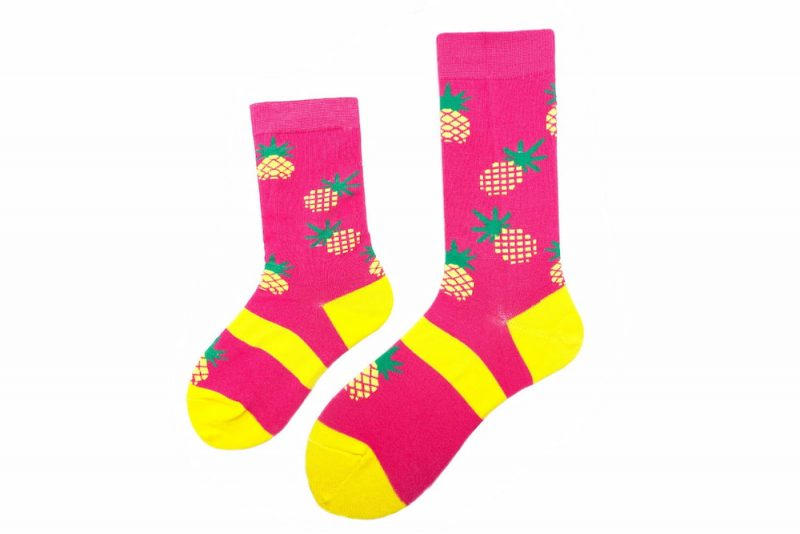 Mommy & Me Pineapple Matching Sock Set made in the usa at sleet and sole factory
