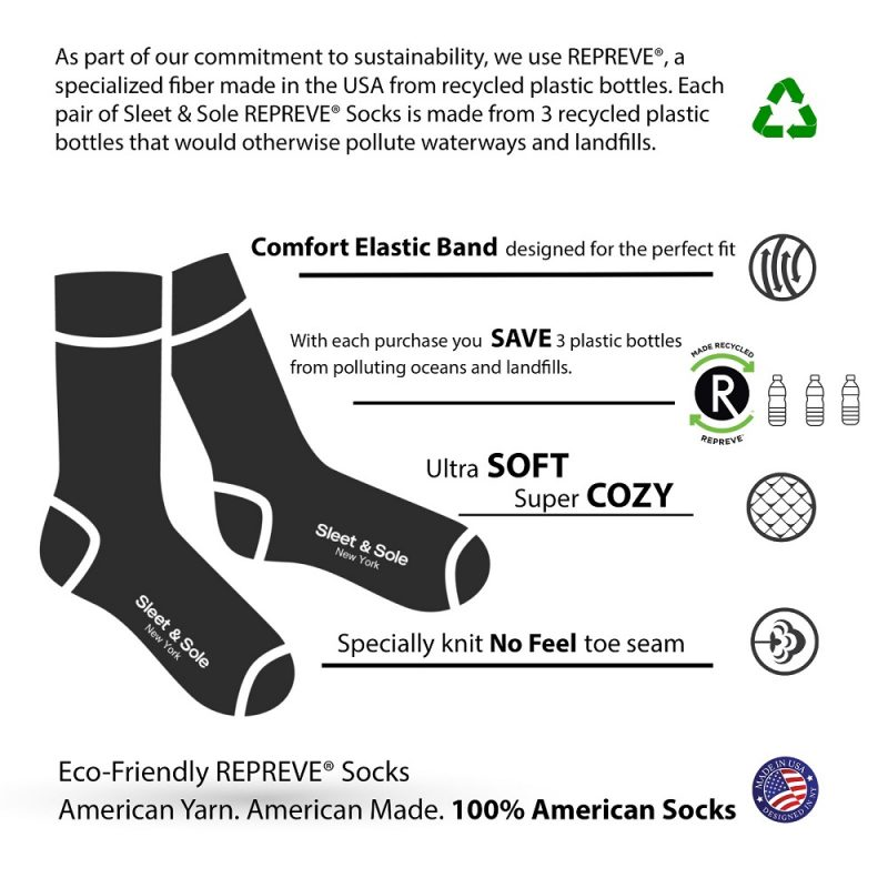 repreve recycled socks features