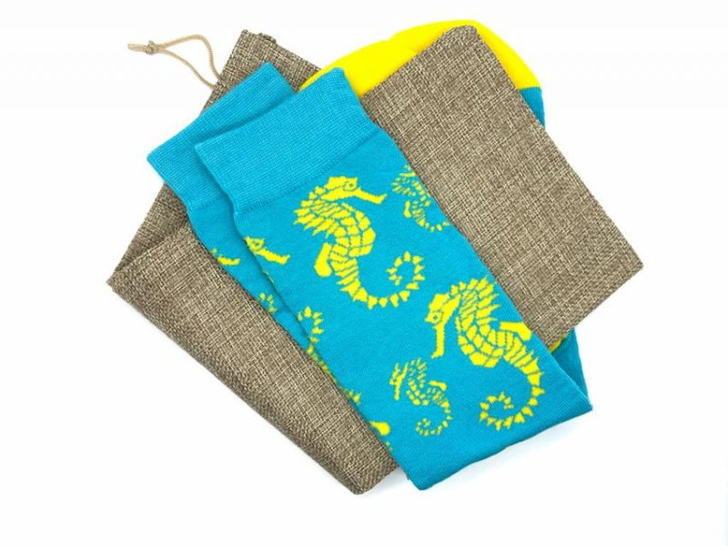 seahorse repreve recycled socks made in the usa at sleet and sole factory