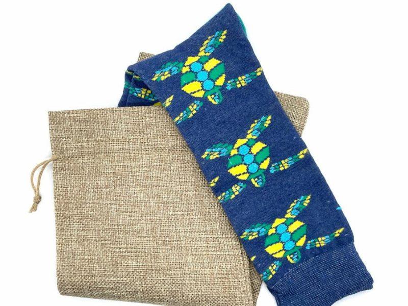 sea turtle recycled socks mad