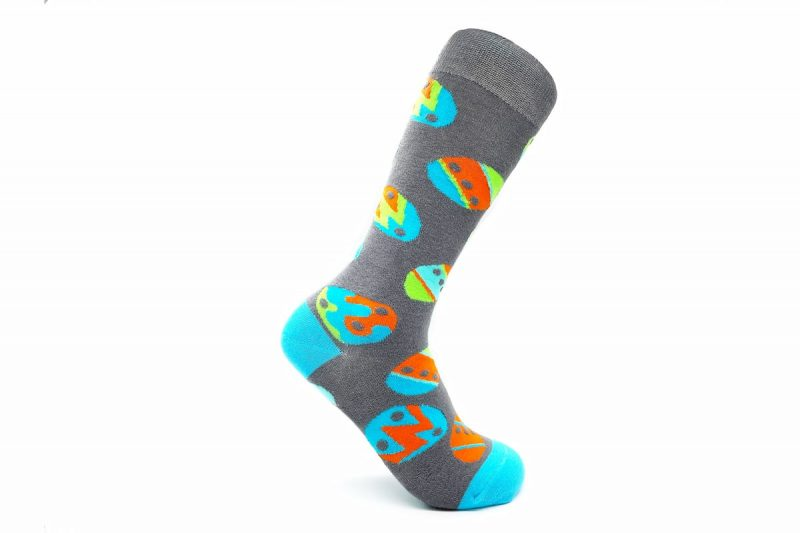 easter egg bamboo socks made in the usa at sleet and sole