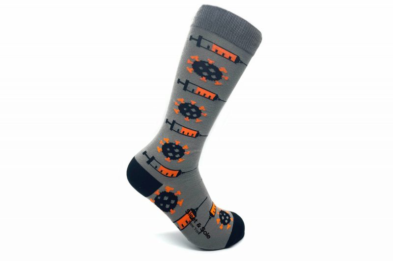 repreve vaccine socks made in usa from recycled plastic bottles at sleet and sole factory