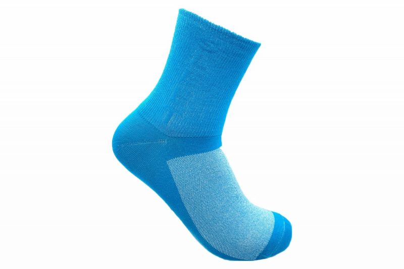 blue cycling socks made in usa at sleet and sole