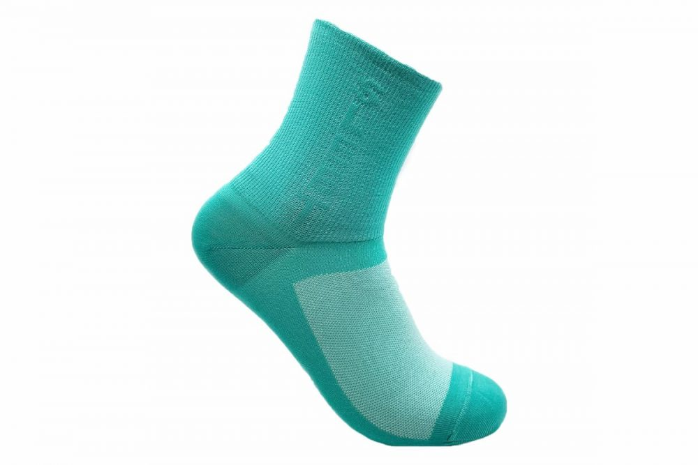 green cycling socks made in usa at sleet and sole