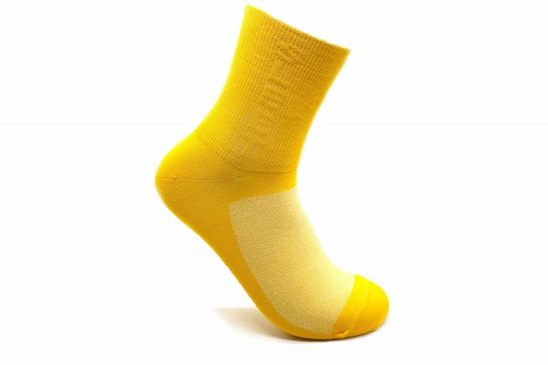 yellow cycling socks made in usa at sleet and sole