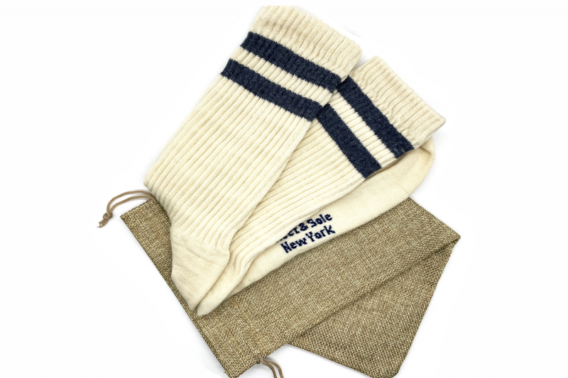 pure merino ribbed socks made in the usa at sleet and sole
